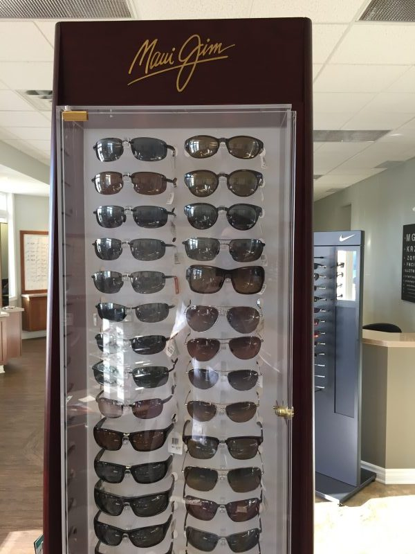We have Maui Jim sunglasses available in prescription and plano.